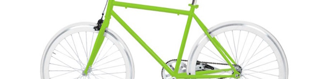 Un fixie vert et blanc - Beau vélo vert !