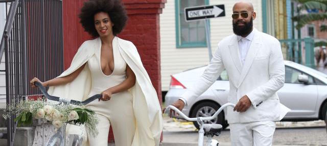 Solange Knowles & Alan Ferguson se marient en vélo