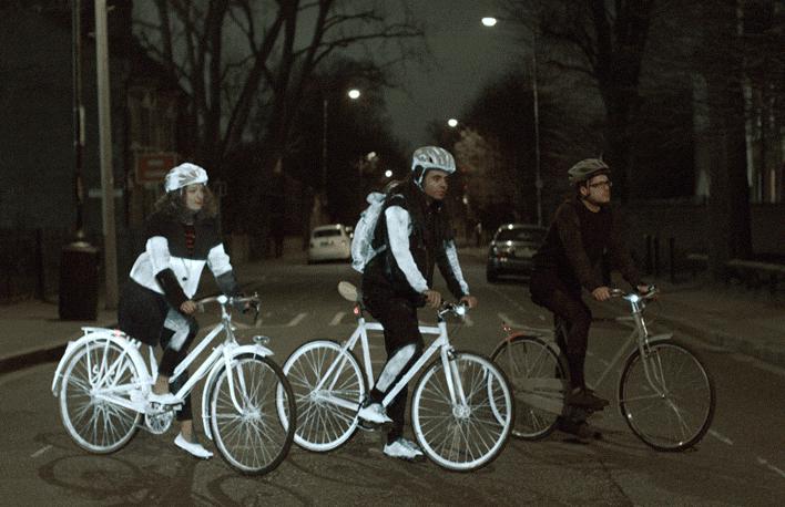 Volvo LifePaint – Peinture invisible et réfléchissante pour Cyclistes