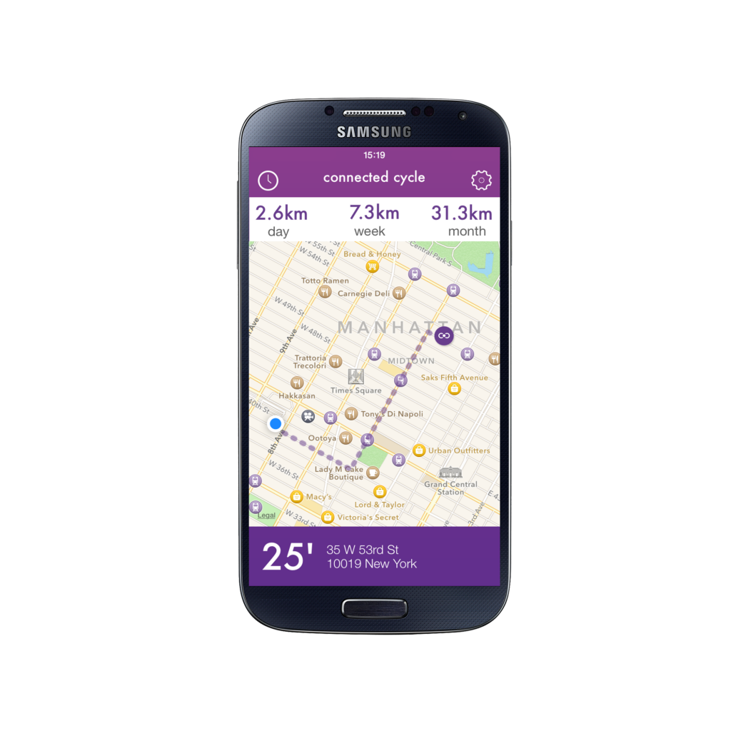Application connected Cycle sur Android
