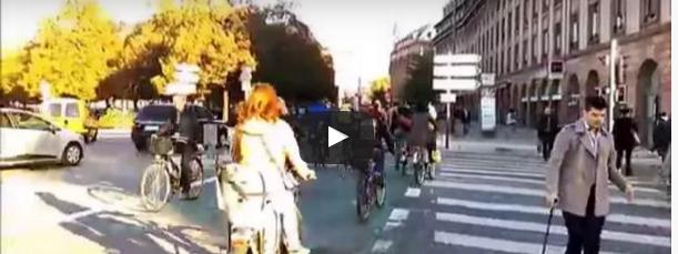 Vélo Strasbourg en heure de pointe