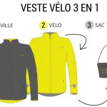 MOVA cycling 3 en 1 : la veste pour cycliste intelligente