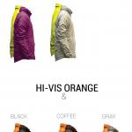 Les modèles pour la veste MOVA