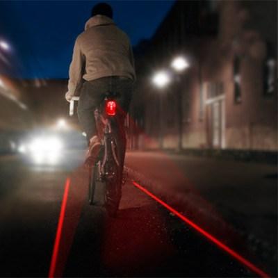 Lampe vélo arrière – Bande cyclable